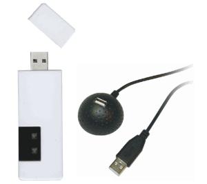 ハンディ型クリッカー、USB型レシーバ