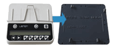 ICカード連携型クリッカー、端末取り付け機構
